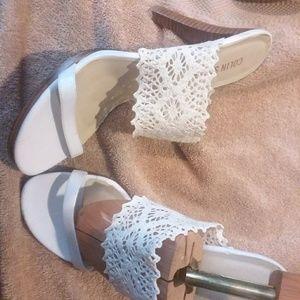 Summer White heeled Sandals